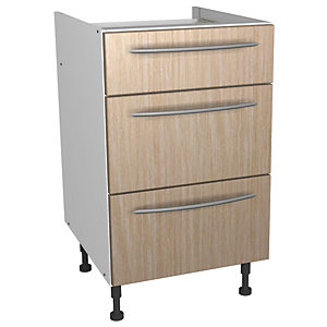 Wickes Galway Drawer Unit Oak Effect 500mm