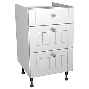 Wickes Edmonton Soft Close Drawer Unit White Arch 500mm