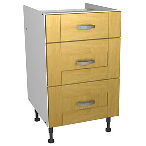 Wickes Memphis Soft Close Drawer Unit Oak Effect Shaker 500mm