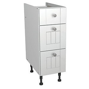 Wickes Edmonton Soft Close Drawer Unit White Arch 300mm