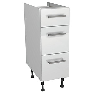 Wickes Houston Soft Close Drawer Unit Gloss White 300mm