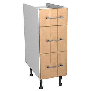 Wickes Tenby Soft Close Drawer Unit Real Wood Oak Shaker 300mm