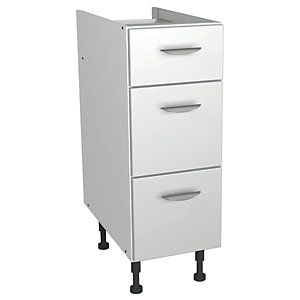 Wickes Miami Drawer Unit White 300mm