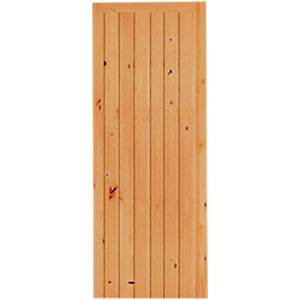 Wickes Keswick Internal Softwood Door Knotty Pine Ledged & Braced 6 Panel 1981x762mm