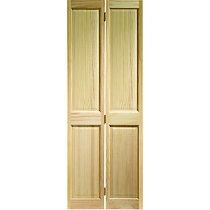 Wickes Skipton Internal Bi-Fold Door Clear Pine 4 Panel 1981x762mm
