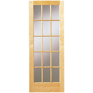 Wickes Whitby Internal Glazed Door Pine 15 Lite 1981 x 686mm