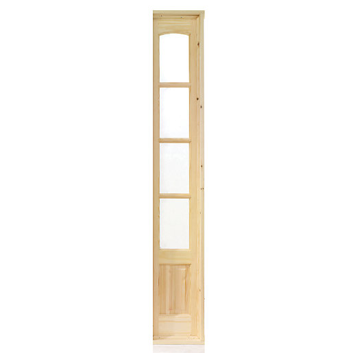 Wickes newland internal french door demi side panel pine for External french doors and frame