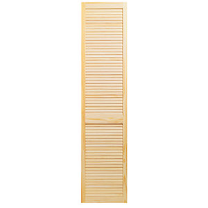 Wickes Internal Closed Louvre Door Pine 1981 x 457mm