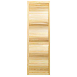 Wickes Internal Closed Louvre Door Pine 1981 x 610mm