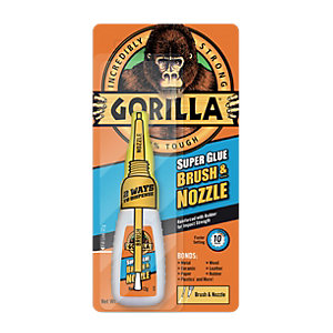 Gorilla Super Glue Brush and Nozzle 12g