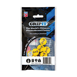 GripIt 15mm Plasterboard Fixing 4 x 25mm Pack of 8