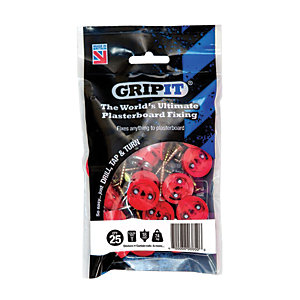 GripIt 16mm Plasterboard Fixing 5 x 30mm Pack of 25