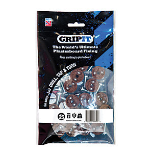Grip It Type 20-2 Plasterboard Fixing M6 x 20mm Pack 25