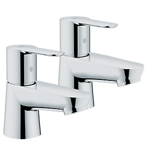 Grohe Get Pillar Taps Chrome