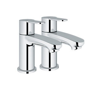 Grohe Wave Cosmo Pillar Taps Chrome