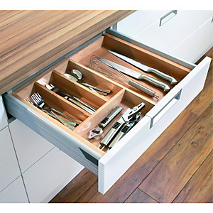Wickes Extendable Cutlery Tray 450-600mm