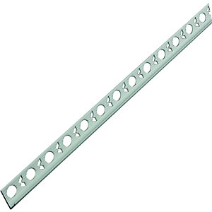 Wickes Tile Trim Brushed Silver Effect Anodised Aluminium 9mmx1.83m