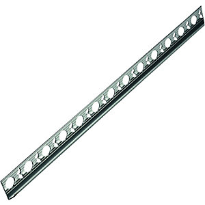 Wickes Tile Trim Silver Effect Anodised Aluminium 12.5mmx1.83m