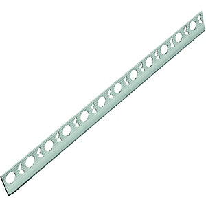Wickes Tile Trim Brushed Silver Effect Anodised Aluminium 12.5mmx1.83m
