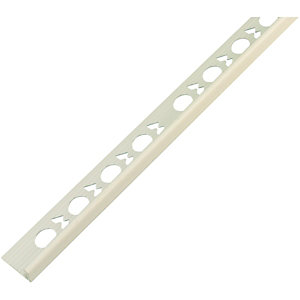 Wickes Tile Trim White PVC 9mmx2.44m