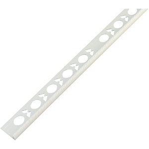 Wickes Tile Trim White PVC 6mmx2.44m