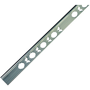 Wickes Tile Trim Silver Effect Anodised Aluminium 6mmx1.83m