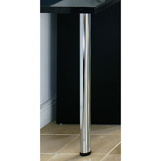 Wickes Worktop Support Leg Chrome 870mm