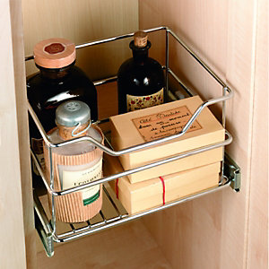 Wickes Pull Out Storage Basket Chrome
