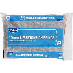 Wickes 10mm Limestone Chippings Major Bag