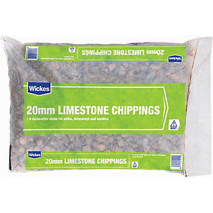 Wickes 20mm Limestone Chippings Major Bag
