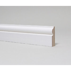 MDF Moulded & Primed Torus Architrave 18mm x 69mm x 4.4m