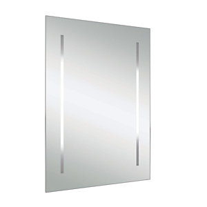 iflo Back Lit Frosted Strips Bathroom Mirror