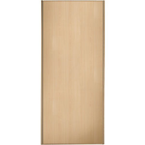 Wickes Sliding Wardrobe Door Maple Frame & Panel 2220 x 914mm