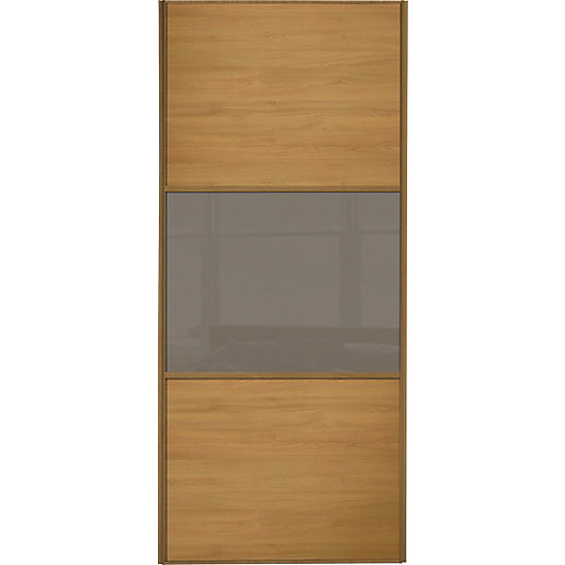Wickes sliding wardrobe door wideline oak panel for Door viewer wickes