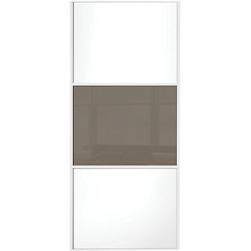 Wickes sliding wardrobe door wideline white panel for Door viewer wickes