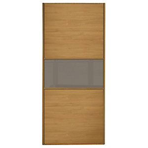 Wickes Sliding Wardrobe Door Silver Frame Mirror Panel Wideline Or Fineline Custom Size 2, 901-1200mm Wide