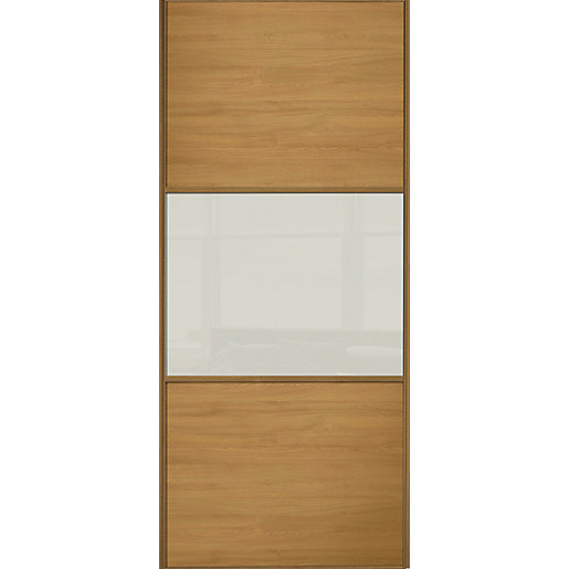Wickes sliding wardrobe door wideline oak panel soft for Door viewer wickes