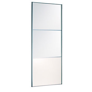 Wickes Wideline Sliding Wardrobe Door White Panel 2220x610mm