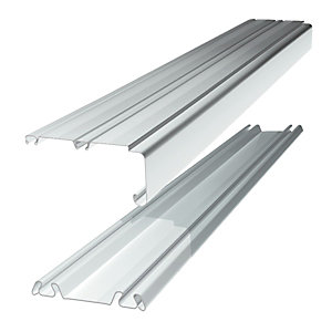 Wickes Sliding Door Trackset White 1.2-1.8m