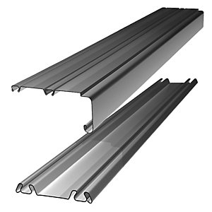 Wickes Sliding Door Trackset Silver 2.7-3.6m