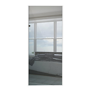 Wickes Sliding Wardrobe Door White Framed Mirror 2220x610mm