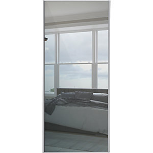 Wickes Sliding Wardrobe Door Silver Framed Mirror Single Panel 2220 x 914mm