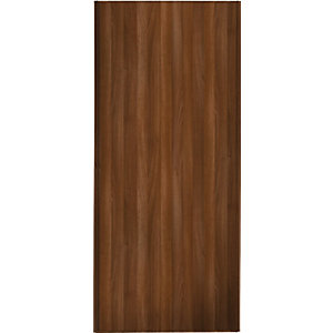 Wickes Aida Sliding Wardrobe Door Walnut Full Panel 2220x914mm