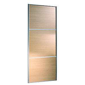 Wickes Wideline Sliding Wardrobe Door Oak Panel 2220x914mm
