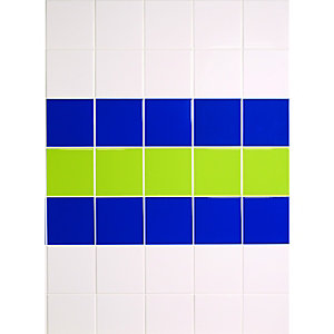Wickes Blue Gloss Ceramic Wall Tile 147x147mm
