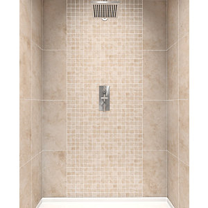 Wickes Kensington Beige Ceramic Wall Tile 300 x 600mm
