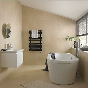 Wickes Crema Marfil Satin Ceramic Wall & Floor Tile 275 x 360mm
