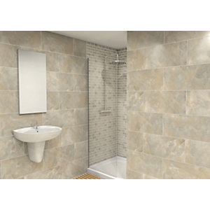 Wickes Onyx Verde Gloss Wall Tile 300 x 600mm