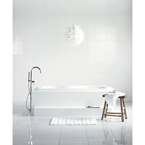 Wickes White Satin Ceramic Wall Tile 275 x 360mm