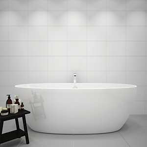 Wickes White Gloss Ceramic Wall Tile 275 x 360 Pk